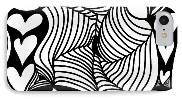 Back In Black And White 13 Modern Art By Omashte IPhone Case