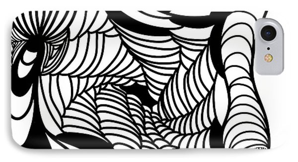 Back In Black And White 14 Modern Art By Omashte IPhone Case