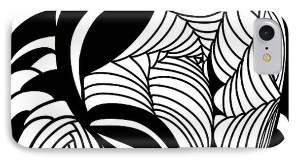 Back In Black And White 15 Modern Art By Omashte IPhone Case