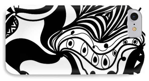 Back In Black And White 2 Modern Art By Omashte IPhone Case