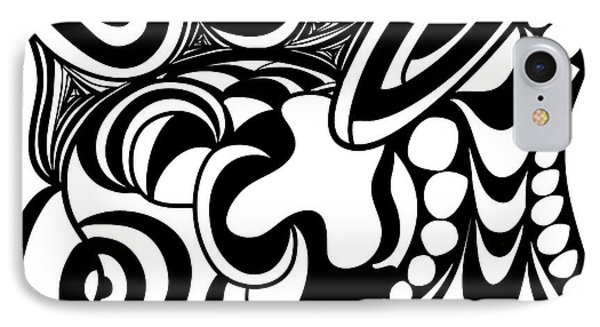 Back In Black And White 3 Modern Art By Omashte IPhone Case