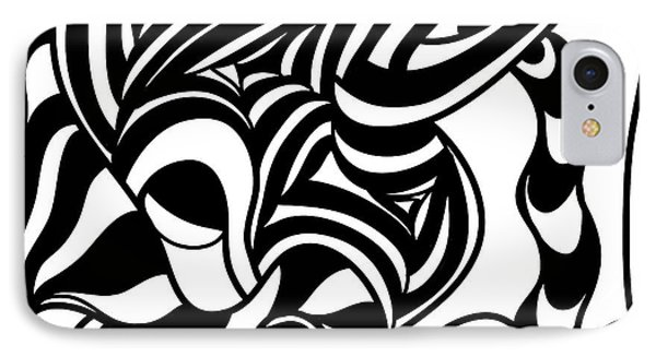 Back In Black And White 4 Modern Art By Omashte IPhone Case