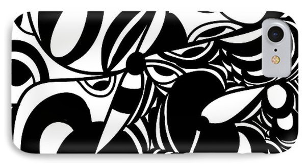 Back In Black And White 5 Modern Art By Omashte IPhone Case