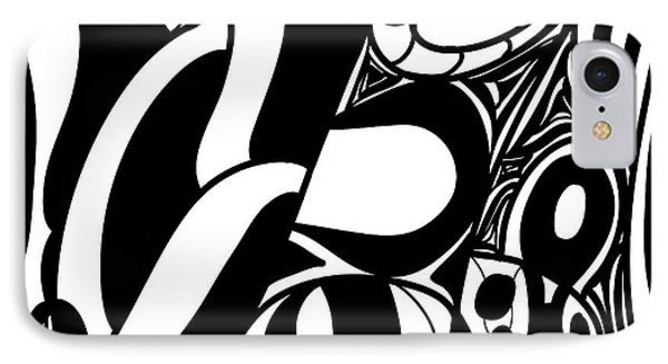 Back In Black And White 7 Modern Art By Omashte IPhone Case