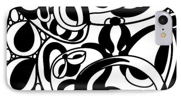 Back In Black And White 8 Modern Art By Omashte IPhone Case