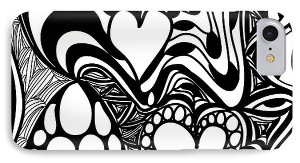 Back In Black And White 9 Modern Art By Omashte IPhone Case
