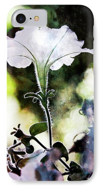 Backlit White Flower IPhone Case