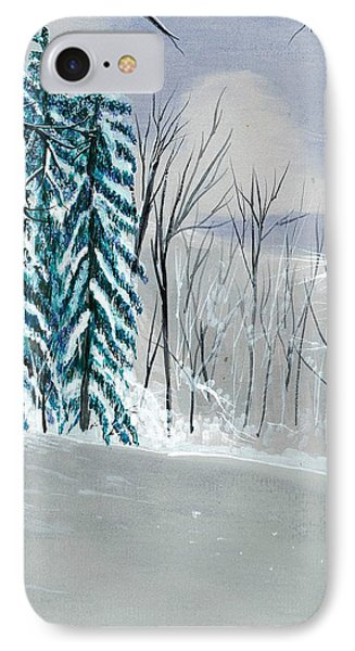Backyard Snow IPhone Case