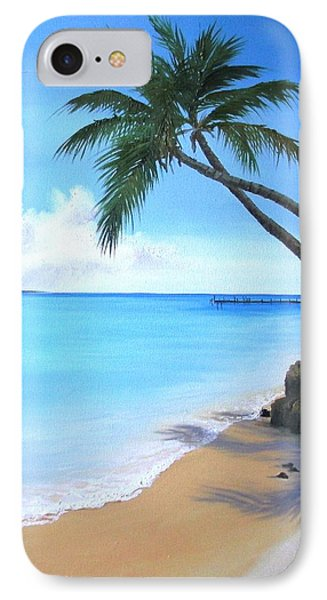 Bahamian Twin Palms IPhone Case