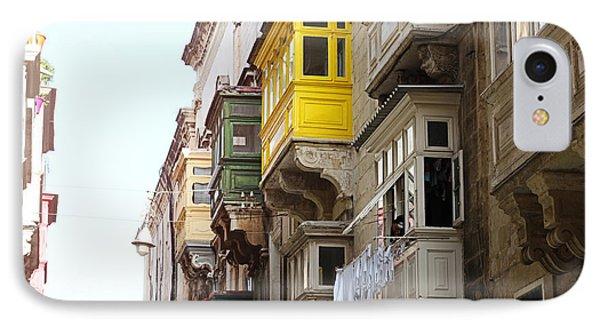 Balconies Of Valletta 1 IPhone Case