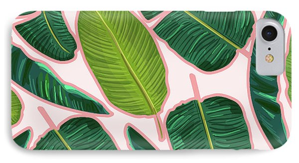 Banana Leaf Blush IPhone Case