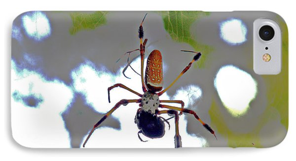 Banana Spider Lunch Time 1 IPhone Case