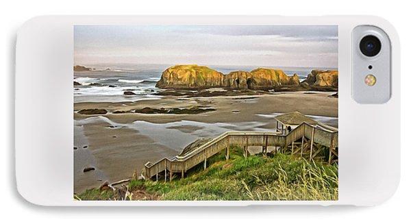 Bandon Beach Stairway IPhone Case
