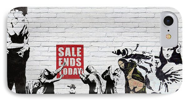 Banksy - The Tribute - Saints And Sinners IPhone Case