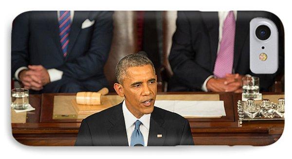 Barack Obama 2015 Sotu Address IPhone Case