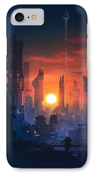 Barcelona Smoke And Neons The End IPhone Case