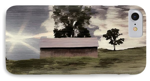 Barn II A Digital Painting IPhone Case