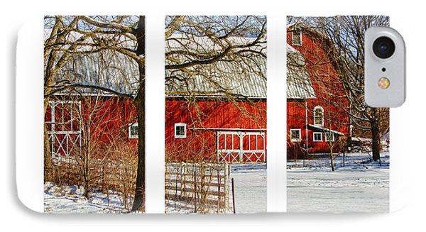 Barn Triptych IPhone Case