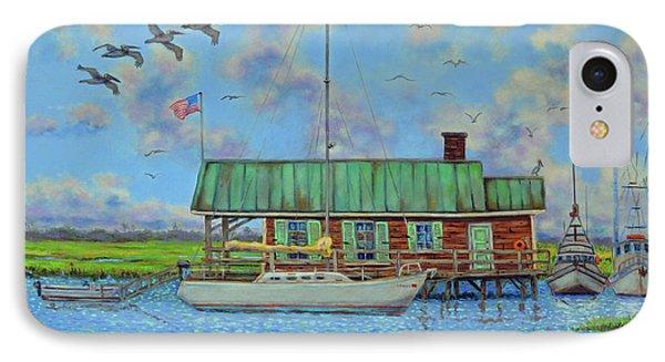 Barriar Island Boathouse IPhone Case