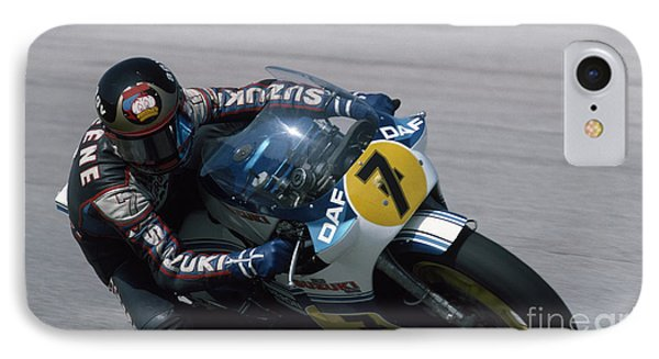 Barry Sheene. 1984 Nations Motorcycle Grand Prix IPhone Case