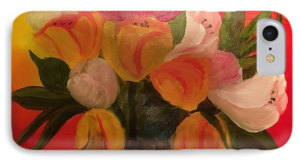 Basket Of Tulips IPhone Case