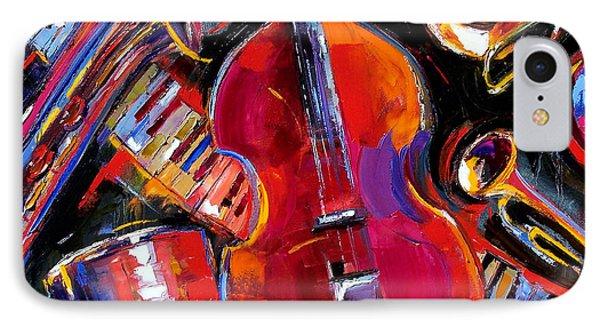 Saxophone iPhone 8 Case - Bass And Friends by Debra Hurd