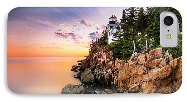 Bass Harbor Lighthouse Sunset IPhone Case