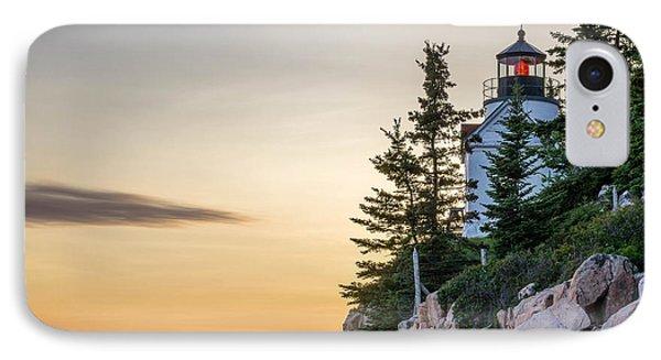 Bass Harbor Lighthouse Susnet  IPhone Case