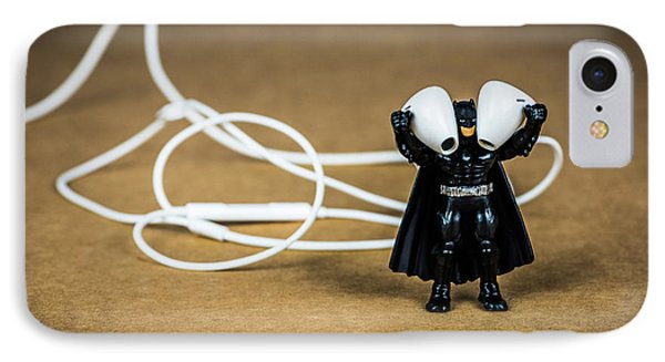 Batman Likes Music Too IPhone Case