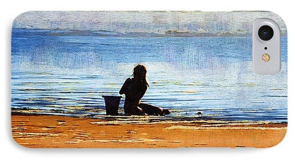 Beach Baby Blue IPhone Case