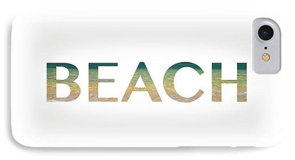 Beach Letter Art IPhone Case