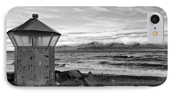 Beacon At Hvaleyrarviti In Iceland Bw IPhone Case