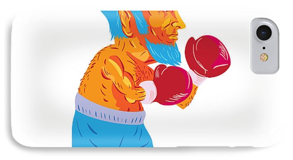 Bearded Boxer Boxing Cartoon Wpa IPhone Case
