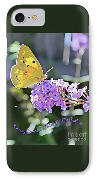 Beauty Comes To Visit IPhone Case