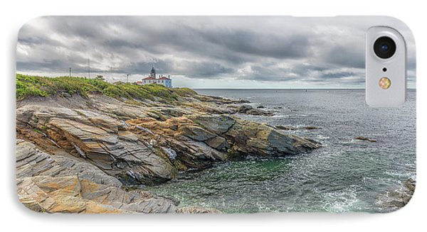 Beavertail Lighthouse On Narragansett Bay IPhone Case