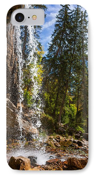 Behind Spouting Rock Waterfall - Hanging Lake - Glenwood Canyon Colorado IPhone Case