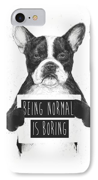 Dog iPhone 8 Case - Being Normal Is Boring by Balazs Solti