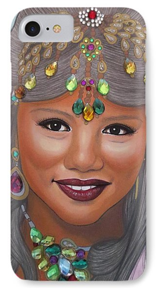 Bejeweled Beauties - Bindiya IPhone Case