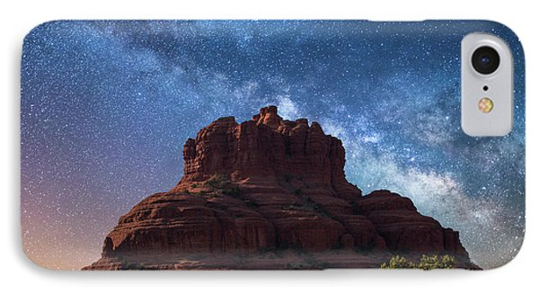 Below The Milky Way At Bell Rock IPhone Case