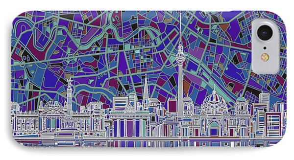 Berlin City Skyline Abstract 3 IPhone Case