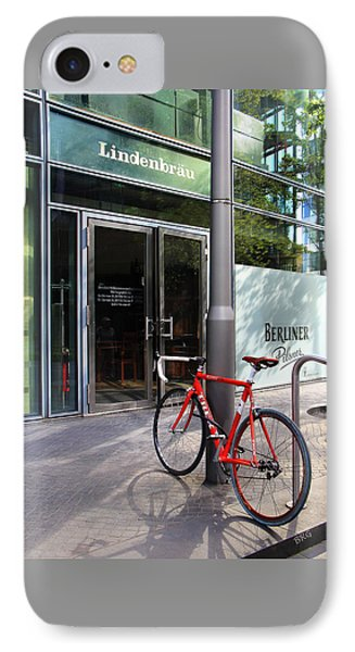 Berlin Street View With Red Bike IPhone Case
