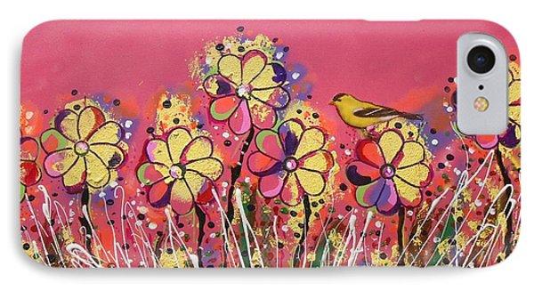 Berry Pink Flower Garden IPhone Case