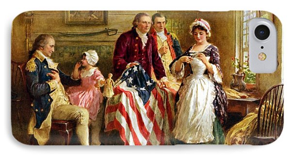 American iPhone 8 Case - Betsy Ross And General George Washington by War Is Hell Store