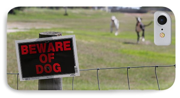 Beware Of Dogs IPhone Case