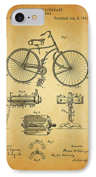 Bicycle Patent IPhone Case