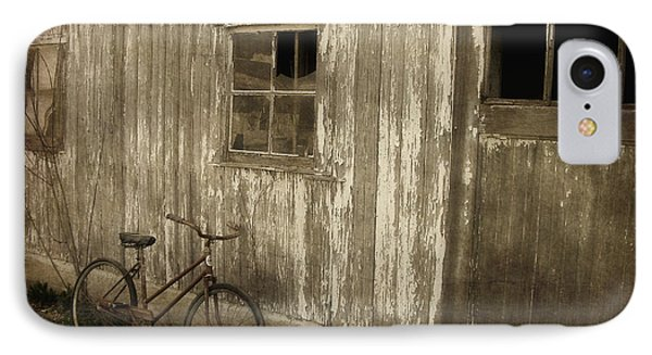 Bike With Barn IPhone Case