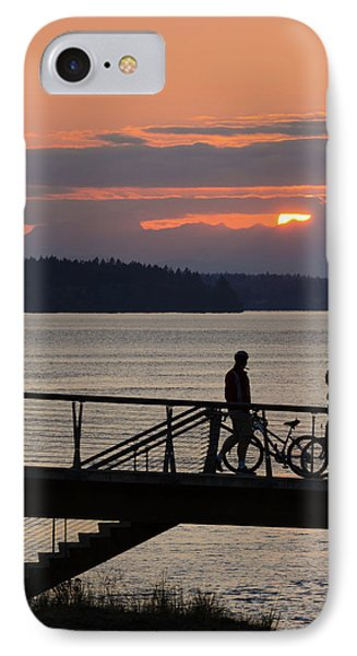 Bikers At Sunset IPhone Case