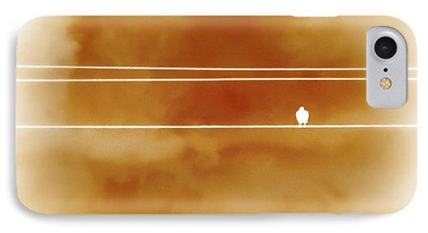 Bird On A Wire Orange IPhone Case
