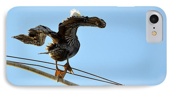 IPhone Case featuring the photograph Bird On The Wire by AJ Schibig