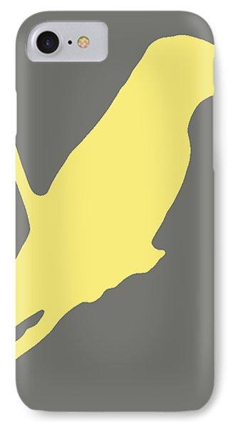 Bird Silhouette Gray Yellow IPhone Case